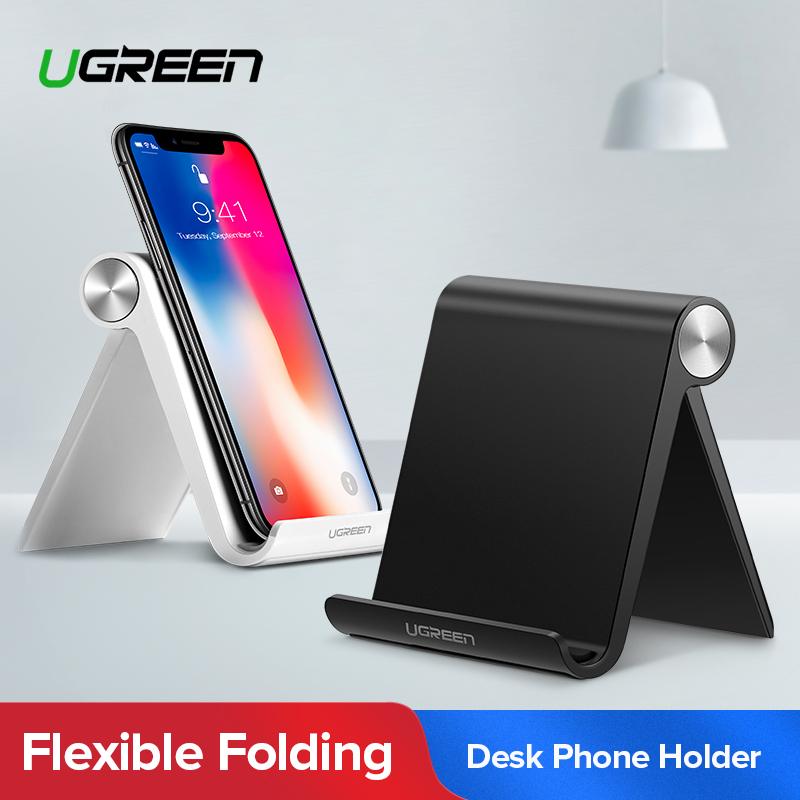Ugreen Universal White Mobile Phone Stand Flexible Desk Phone Holder for iPad iPhone Samsung Sony Xiaomi Huawei iphone 6 plus kılıf