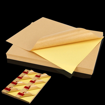 A4 Print Kraft Paper Label Sticker Cutting Surface MatteBlank Self-sticking Adhesive Laser Ink Jet Printer Gift Box Rectangle