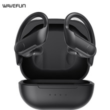 Wavefun sem fio fone de ouvido bluetooth 5.0 fones workout volume ipx5 à prova dwireless água sem fio bluetooth fone para smartphones