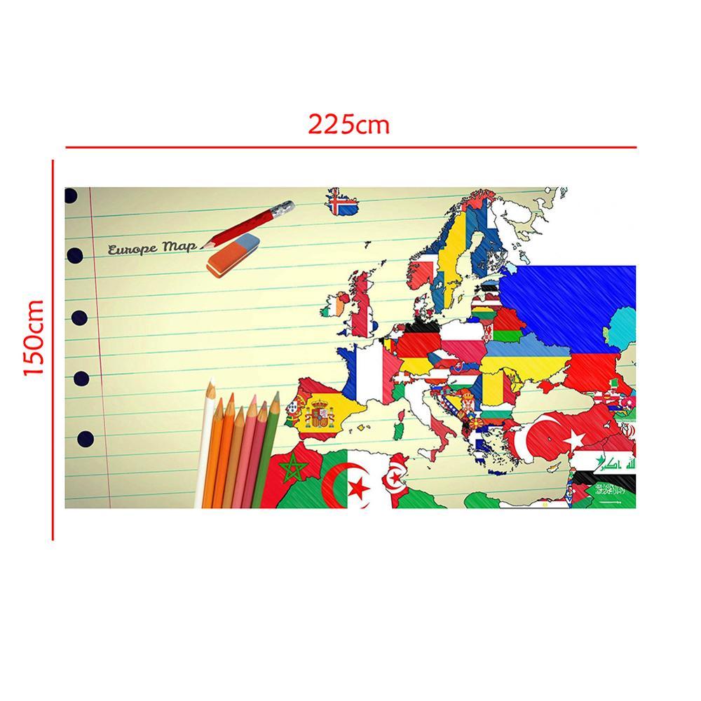 150x225cm Creative European Map Desktop Wall Decoration Map Photography Background Cloth Photo Studio Backdrop Props