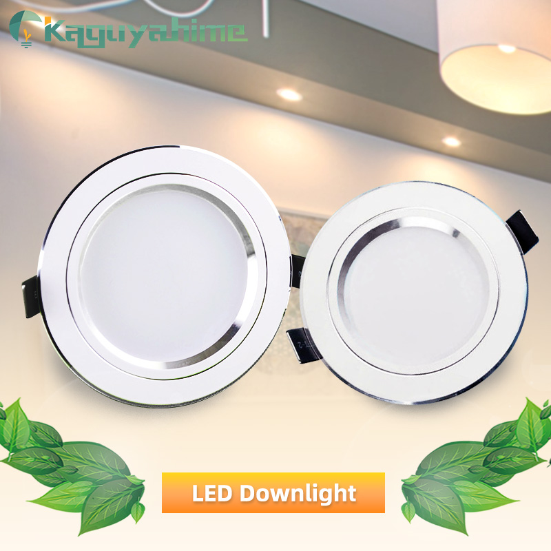 LED Downlight Ceiling 5w 10w 15w Silver White Led Lamp Recessed 110~220v LED Down Light Indoor Lighting Home Aluminum Spot Light