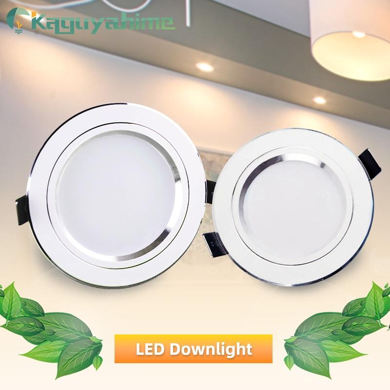 LED Downlight Ceiling 5w 10w 15w Silver White Led Lamp Recessed 110~220v LED Down Light Indoor Lighting Home Aluminum Spot Light