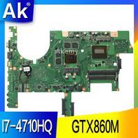 AK ROG G75J1M Laptop anakart ASUS G751JM G751J G751 Test orijinal anakart I7-4710HQ GTX860M