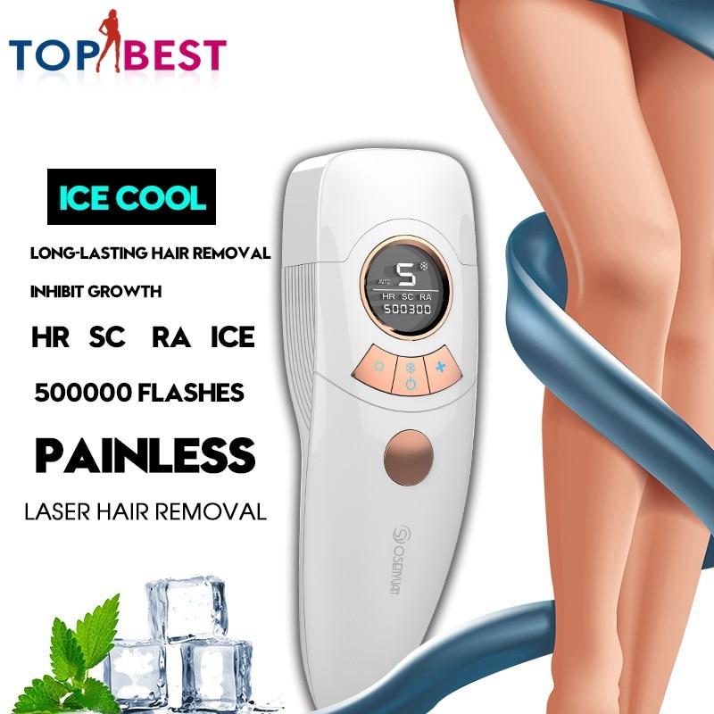 4in1 ipl depilador permanente maquina de remocao do cabelo a laser gelo display lcd 500000 pulsos