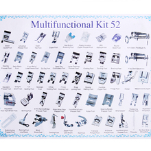 32/42/48/52Pcs Sewing knitting crochet Domestic Machine Blind Stitch Darning Presser Foot Feet Kit Set For Brother Singer Janom 62pcs mini sewing machine presser foot feet for brother singer janome presser feet braiding blind stitch darning accessories