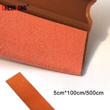 5cmx10 0/500cm רך זמש הרגיש בד קצה מגב מגרד חלון גווני כלי ויניל סרטי רכב גלישת ניקוי כלים מדבקת כיסוי