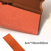 5cmx100/500cm Soft Suede Felt Cloth Edge Squeegee Scraper Window Tints Tool Vinyl Film Car Wrapping Cleaning Tools Sticker Cover