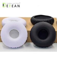 Defean 交換ブラックホワイトイヤーパッド耳カップソニー DR BTN200 BTN200 BTN 200 ヘッドホン