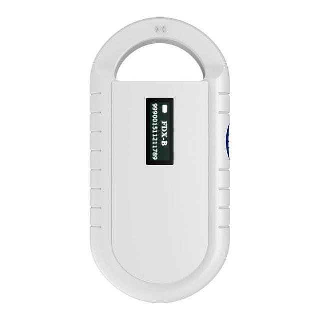 ISO11785/84 FDX B 애완 동물 마이크로 칩 스캐너 동물 RFID 태그 리더 개 리더 동물 칩이있는 저주파 핸드 헬드 RFID 리더
