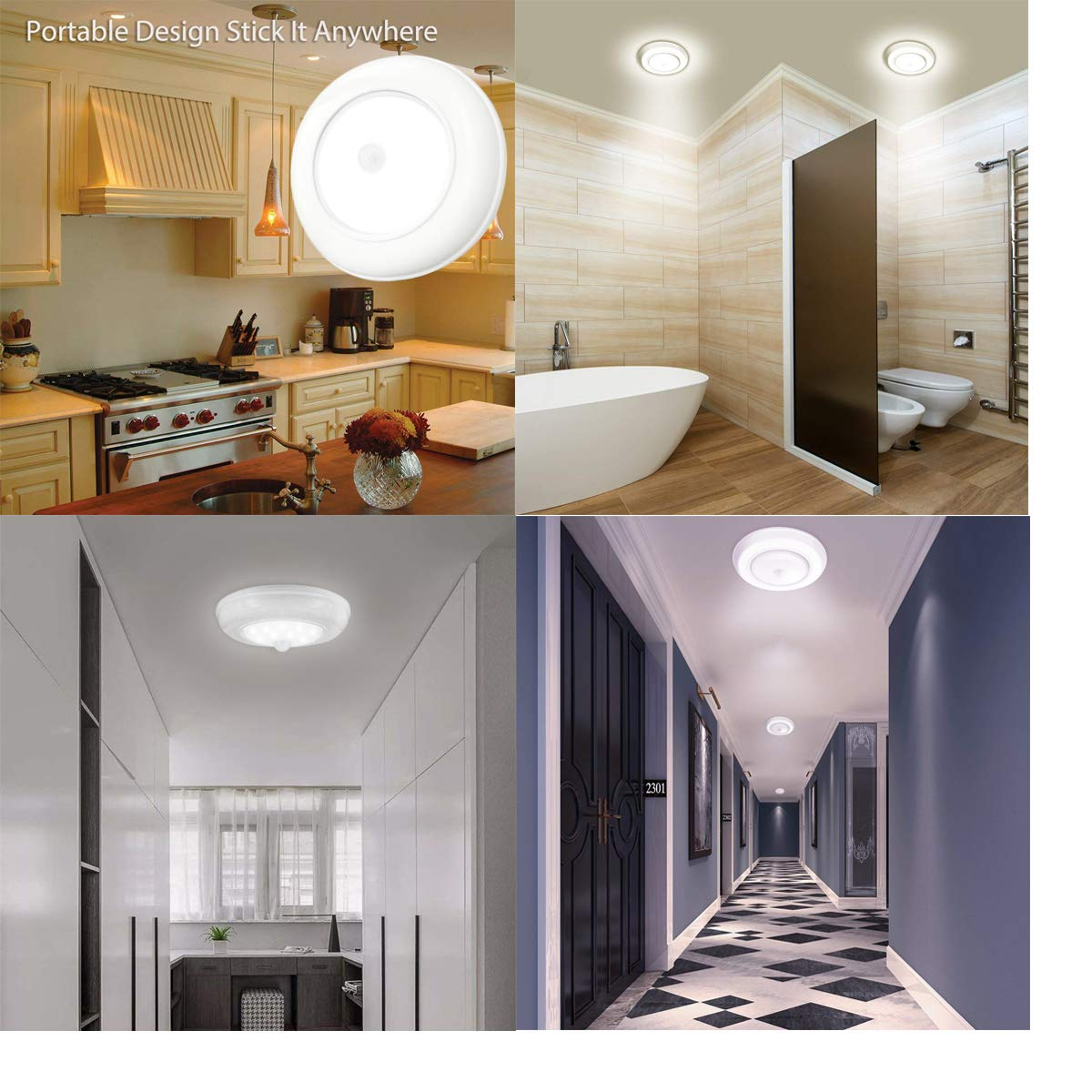 PIR Motion Sensor Activated LED Light Strip Wardrobe Cabinet Battery Operated