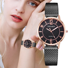 цена на Fashion Brand Steel Women Bracelet Watch Reloj Mujer Montre Femme Ladies Quartz Wristwatches Fashion Crystal Female Clock 2019