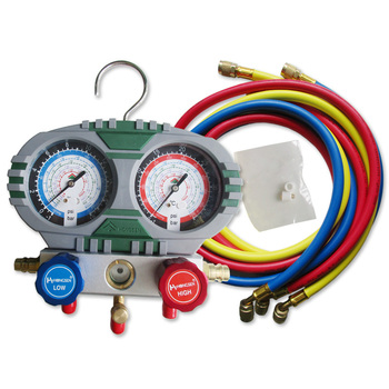 HS-S60-102 Refrigerant and fluoride pressure gauge Repair Tool  Manifold Gauge Set with Hose for Household and Air Conditioning oil pressure sensor replacement for defi link and for apexi and just for pivot s gauge for ford mustang 3 8l tk cgq05
