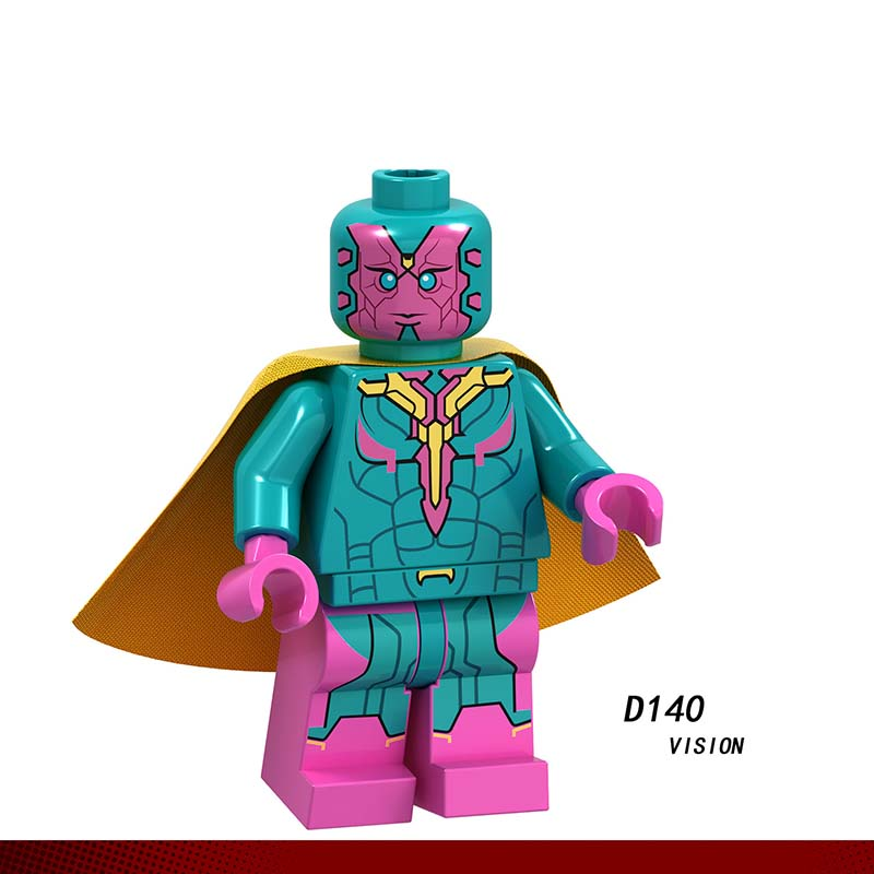 Single LegoINGlys Super Heroes Captain America Groot THOR STAR-LORD Rocket Vision MiniFigure Bricks Dolls Toy Gifts For Boy D140
