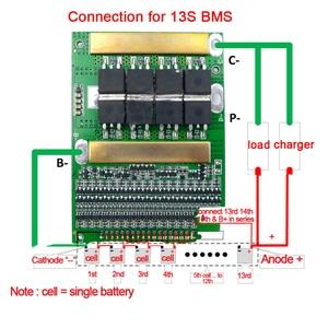 Image 2 - 6 17S BMS 35A 50A 80A 120A 150A18650 LiFePo4 Batteria Al Litio Regolabile Balancer 72V Equilibrio Bordo di Protezione per il Motore Elettrico