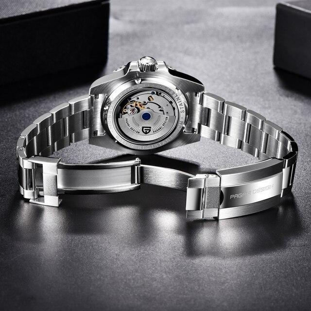 PAGANI DESIGN Sapphire Glass 40MM Ceramic GMT Mechanical Watches 100m Waterproof Classic Fashion Luxury Automatic Watch 6