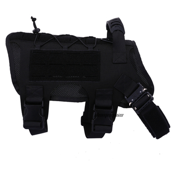 Tactical Dog Vest Military Hunting Shooting Cs Army Service Dog Vests Nylon Pet Vests Airsoft Training Molle Dog Vest Harness 15