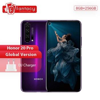 Перейти на Алиэкспресс и купить Глобальная версия Honor 20 Pro смартфон 8G 256G Kirin 980 Восьмиядерный 48MP четыре камеры мобильный телефон 6,26 ''4000mAh Google Play NFC