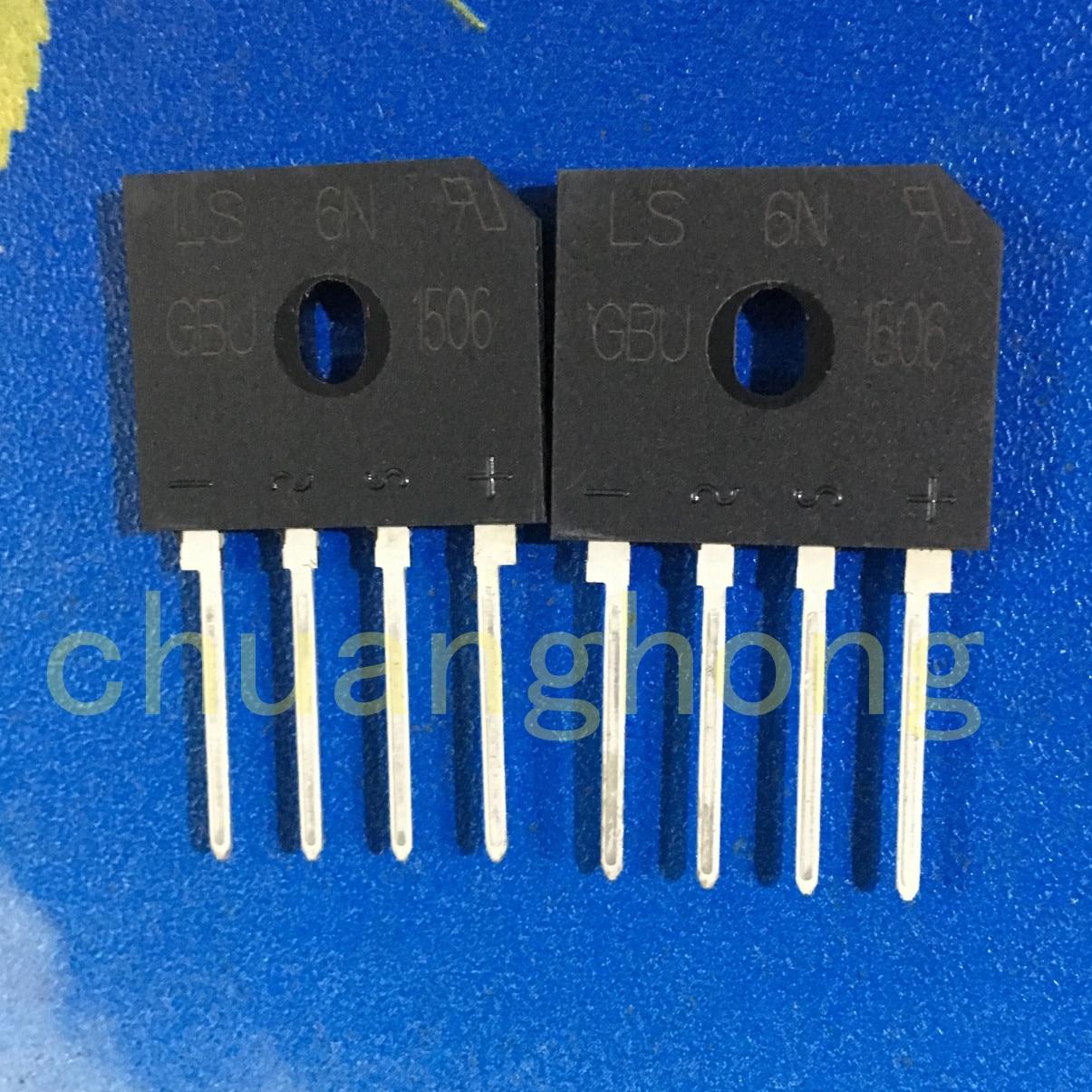 1pcs/lot GBU1506  original packing new  rectifier bridge  GBU-1506
