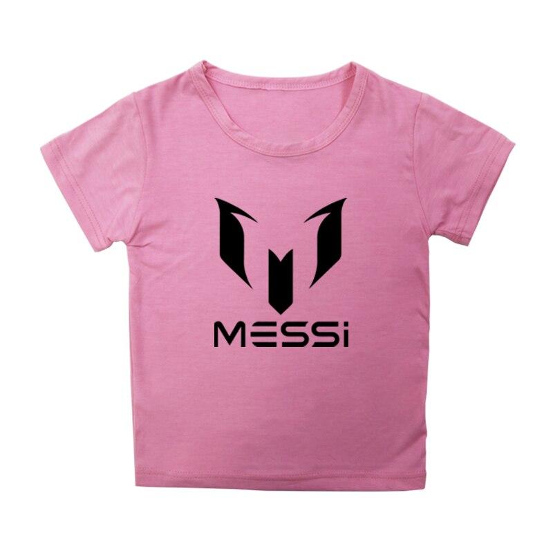 Футболка с суперфутбольной звездой Месси детский хлопковый топ