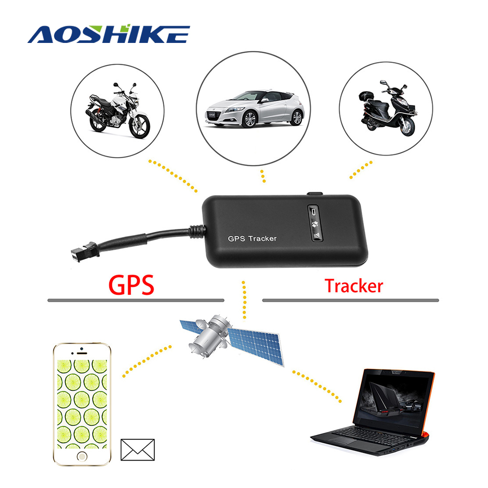 AOSHIKE Gps-Locator GT02A Car/vehicle Real-Time Google Portable Anti-Theft for 4-Band