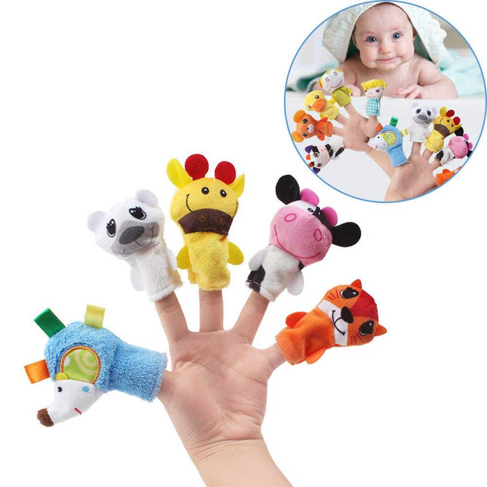5 pièces De Dessin Animé Biologique Marionnettes Animales De Doigt Jouet Enfants Doigt Marionnettes Jouets En Peluche Pour Les Enfants Cadeau D'anniversaire Éducatif #40