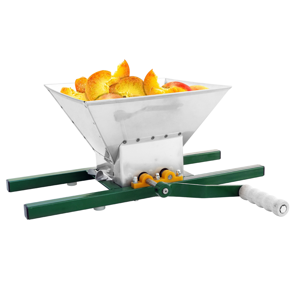 12L Fruit Press- New Version Larger 304 Stainless Steel Pressing Plate Fruit Crusher for Cider Apple Press Wine Grape For Apple Cider Wine and Juice Making