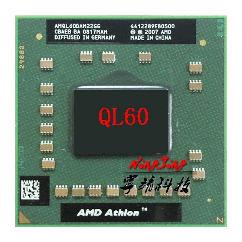 AMD Athlon 64X2 QL-60 QL 60 QL60 1.9 GHz double-coeur double-fil processeur dunité centrale AMQL60DAM22GG Socket S1