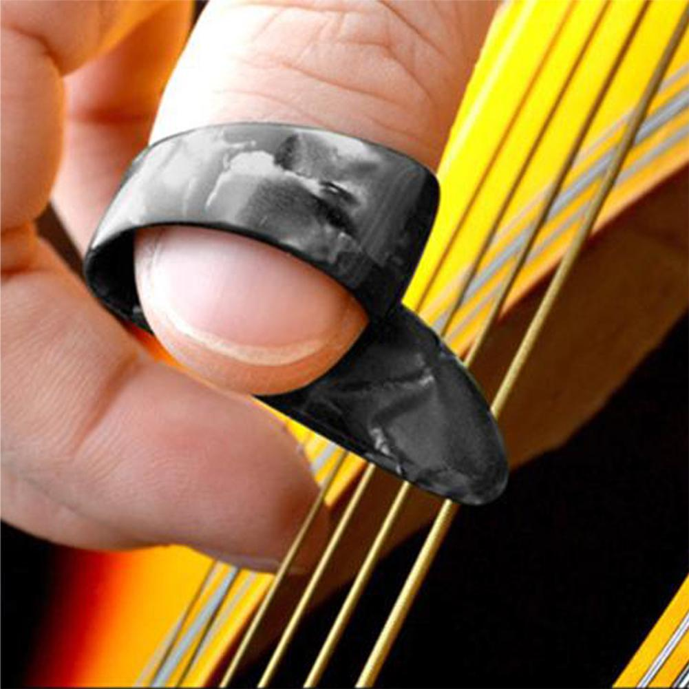 1 Finger Acoustic Nail Guitar Pick Celluloid Mediator Thumbpick Guitar Picks Sheath For Acoustic Electric Bass Guitar