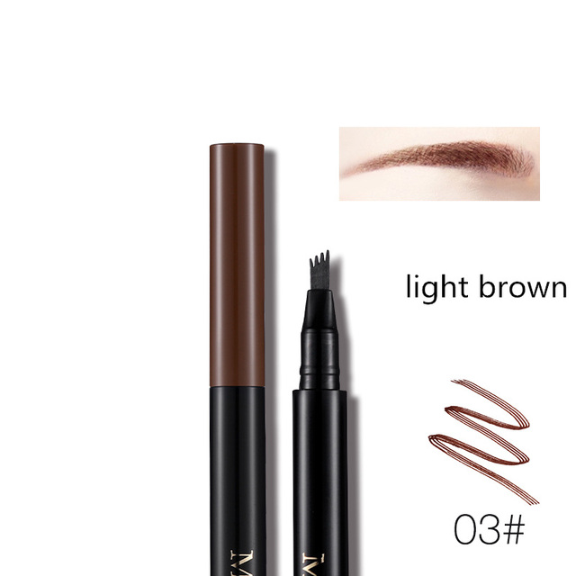 Miss Rose Fork Tip Fine Sketch Liquid Eyebrow Pencil Microblading Eye Brow Pen Tattoo Tint Waterproof Smudge Proof  Makeup Kit 5