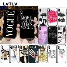 LVTLV Brand New More Issues than Vogue Phone Case for iPhone 11 pro XS MAX 8 7 6 6S Plus X 5 5S SE XR case(China)