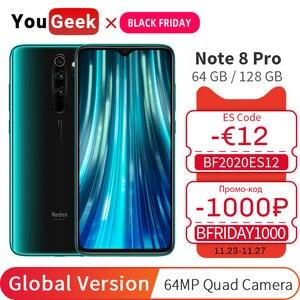 Global Version Xiaomi Redmi Note 8 Pro 6GB 128GB / 64GB Mobile Phone NFC 64MP Camera Helio G90T Octa Core 4500mAh 6.53