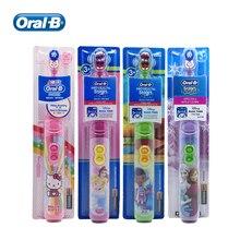 אוראלי B ילדים חשמלי מברשת שיניים מסטיק טיפול נוסף רך זיפים סיבוב ניקוי שיניים AA סוללה מופעל לילדים 3 +