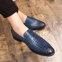 Men Shoes Flats Tassel Comfortable Big-Size Men's Brand New 48 Loafers Weave