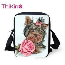 Thikin Yorkshire Terrier Shoulder Messenger Bag Crossbody School Supplies School Supplies Shopping Bags Mochila Infantil