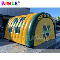 Custom football team inflatable tunnel tent with door curtains dome shaped entrance tunnel for party sports event