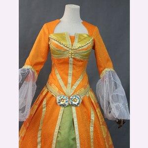 Image 5 - Di alta Qualità 2019 Movie Aladdin Jasmine Principessa di Orange Vestito Della Ragazza Delle Donne Del Partito di Halloween Cosplay Costume Arabo Royal Abito Abito