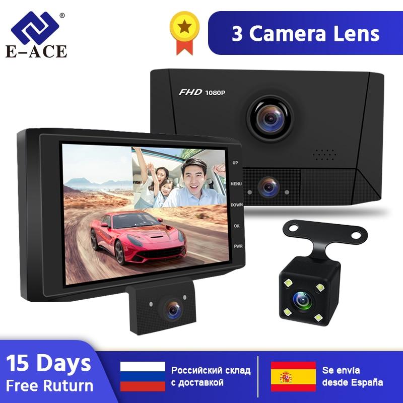 E-ACE B13 Auto Dvr 3 Kameras Objektiv Dash Kamera 4 Zoll Registratory Nachtsicht Camcorder 1080P DVR Auto Kamera auto Video Recorder