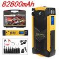 82800 мАч 12В 4USB высокомощное автомобильное зарядное устройство стартер пускового устройства для автомобиля Комплект для автомобильного пуск...