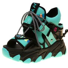 Women's Patent Leather Gladiator Sandals Platform Wedge Fashion Sneakers High Heels Chunky Strap Buckle Ankle Boots 2015 plus size sweety women sandals wedges high heels patent leather t strap ankle buckle strap chunky rivets decorated summer
