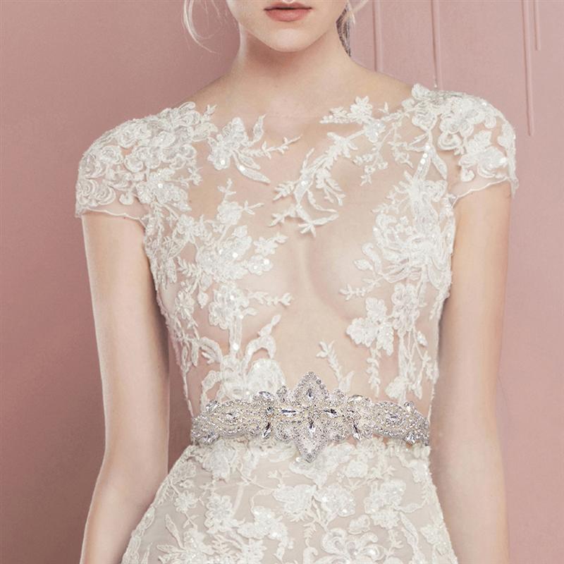 Wedding Rhinestones Bridal Belt Diamond Wedding Dress Belt Crystal Wedding Sash For Bridal Bridesmaids Wedding Dress Accessories