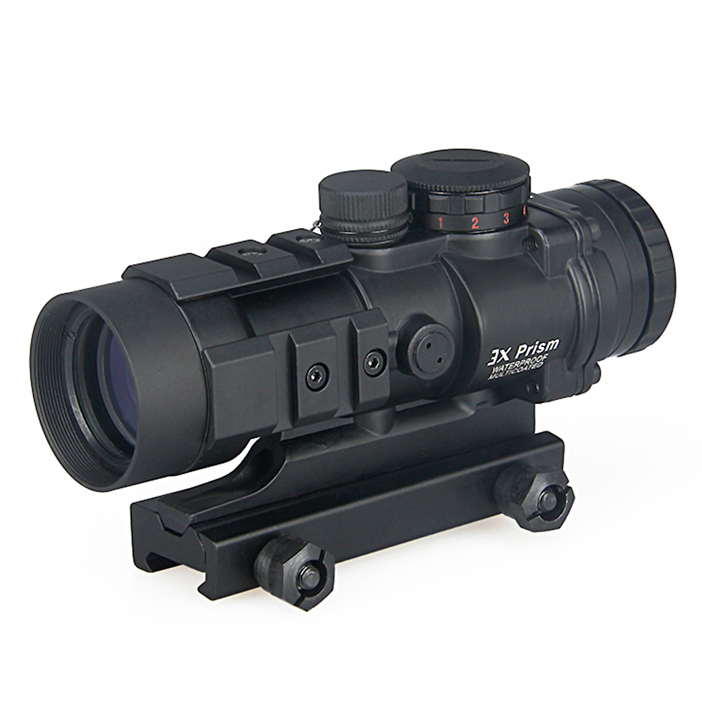 Hunting Airsoft AR-332 3x Collimator Rifle Scope Rugged and Compace Unique Ballistic/CQ Reticle fits 20mm Rail HK1-0309 image