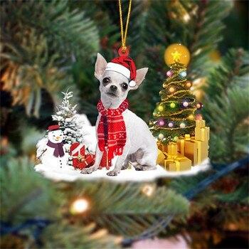 Dog Snowman Ornament  3