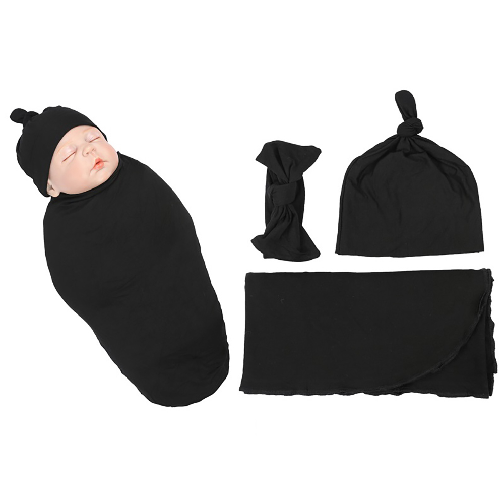 SONDR Soft Blanket+Cap Newborn Baby Photography Props Cocoon Wrap Infant Cotton Swaddle Babies Sleeping Bag Child Cover Things