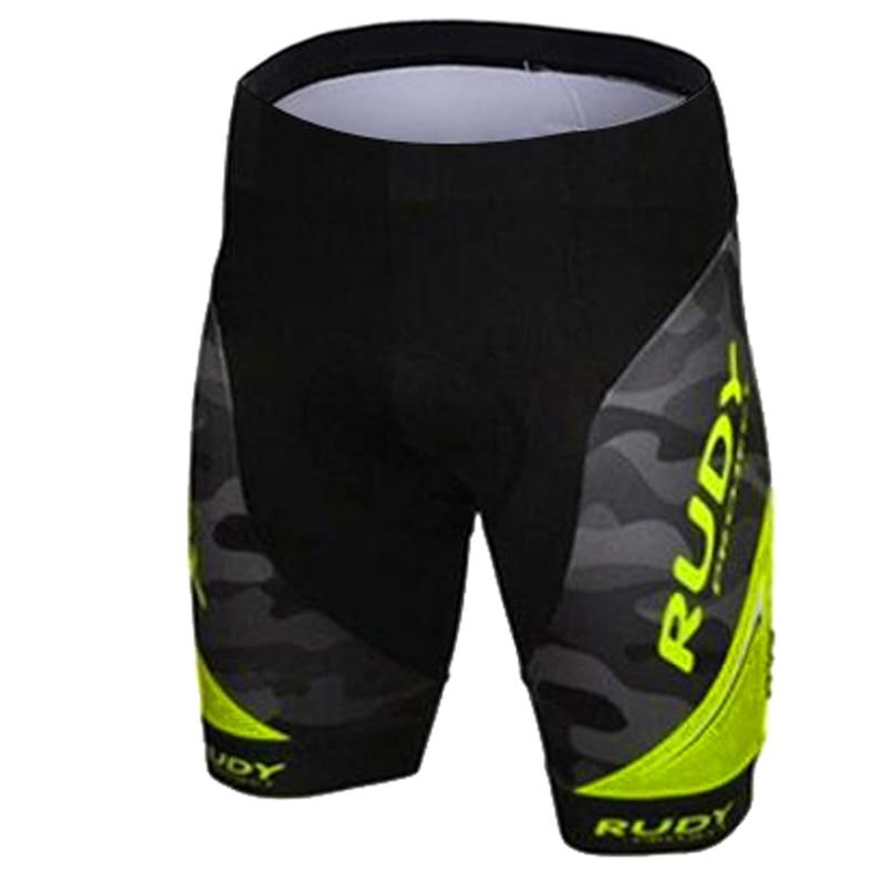 Rudy Brand Flour Yellow Pro Cycling Shorts Men 3D Anti Slip Padded Gel Cycling MTB Bike Shorts Mountain Bicycle Short Pants