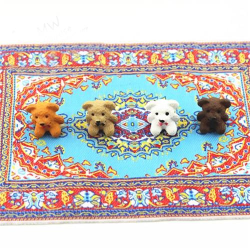 112 16 장난감 인형 용 작은 앉아 곰 인형 집 소형 식품 주방 거실 액세서리 4 색