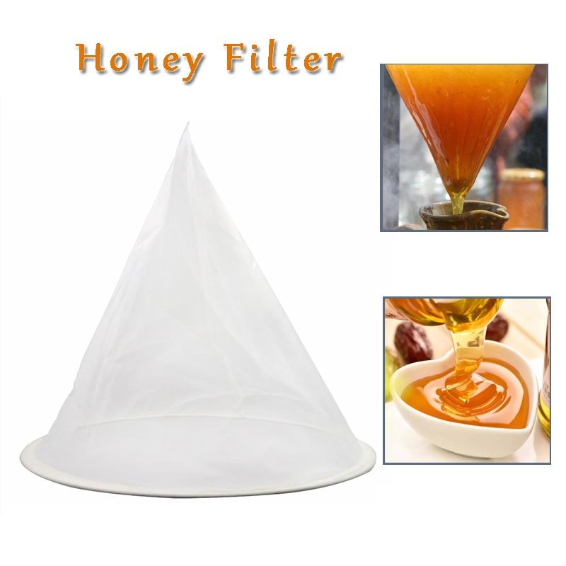 Bee Honey Flow Filter Mesh Nylon Cone-shape Beekeeping Strainer Fiber Bee Net Purifier Beekeeper Beehive Tools Bees Equipment
