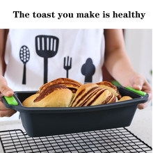 Silicone bread mold cake non stick baking pan oven soap mold bread mousse toast plate cake form baking plate kitchen tools 3##