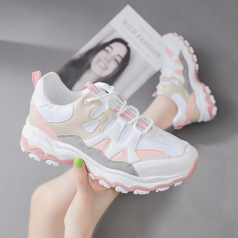 2019 Women Casual Shoes Women Sneakers Air Mesh Breathable Shoes Flat Platform Casual Shoes Female Trainers N8-94