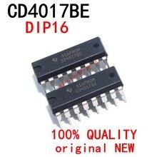 10 pces cd4017be dip14 cd4017b cd4017 4011 dip-14 novo e original chipset ic