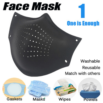 Silicone Fashion Pollution Filter Face Mask Dust Respirator Washable Dust Mask Replaceable Filter Cotton Adult Mask